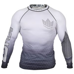 Kingz Ranked Crown 3.0 Long Sleeve Rashguard White
