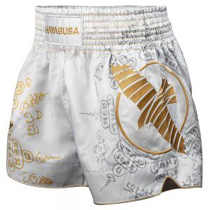 Hayabusa Falcon Muay Thai Shorts White