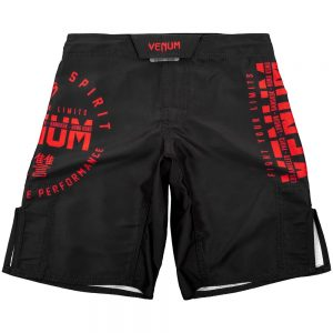 Venum Signature Youth Fight Shorts Black/Red