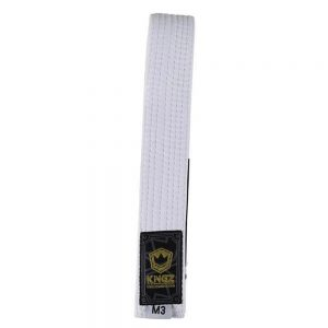 Kingz Kids Belts Solid Colour White