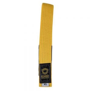 Kingz Kids Belts Solid Colour Yellow