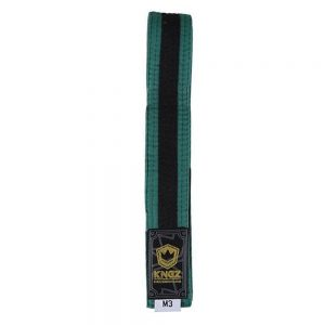 Kingz Kids Belts With Black Stripe Green/Black