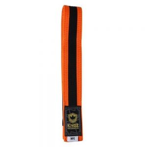 Kingz Kids Belts With Black Stripe Orange/Black