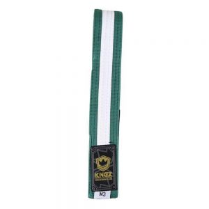 Kingz Kids Belts With White Stripe Green/White