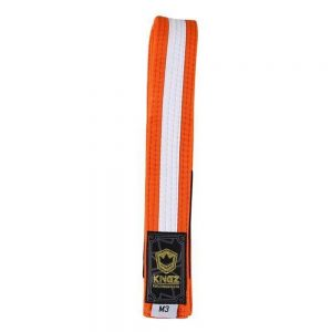 Kingz Kids Belts With White Stripe Orange/White