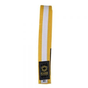 Kingz Kids Belts With White Stripe Yellow/White