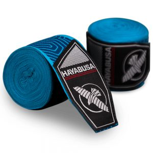 Hayabusa Perfect Stretch Printed Hand Wraps Blue Geo