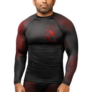 Hayabusa Geo Long Sleeve Rashguard Red